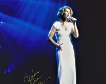 Celine Dion Young Vintage Original Hand Signed 8X10 Autographed Photo
