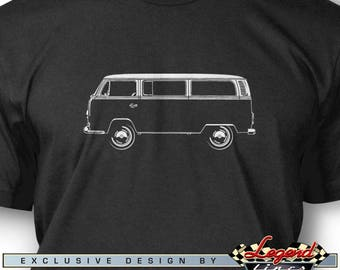 Volkswagen Bus Kombi Micro bus T-Shirt for Men - Lights of Art - Multiple colors available - Size S - 3XL - Great VW German Classic Car Gift