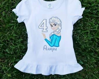 Elsa Birthday Shirt, Frozen Birthday, Ice Queen Shirt