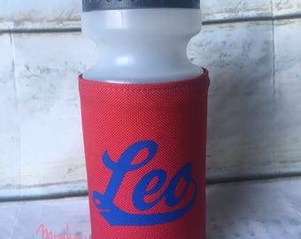 Personalised Water Bottle and Holder