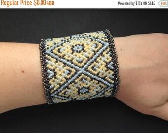20% SALE Romantic huichol bracelet pattern
