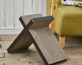 Eco Friendly Cat Scratcher Cross in Espresso Wood Veneer with Catnip by Way Basics FREE SHIPPING