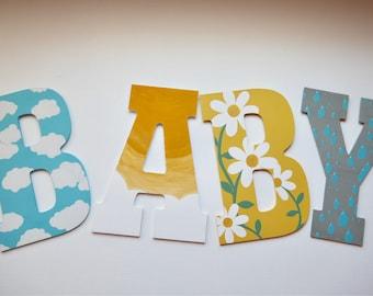 Custom Painted Wood Letters