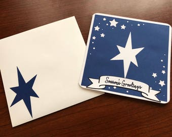 Starry Night Holiday Card & Thank You Card