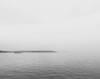 Ocean Print, Black and White Ocean Print, Vintage Ocean Wall Art, Black and White Ocean Photography, Sea Art