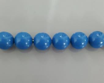 6mm Swarovski Crystal Pearls 5810 - LAPIS PEARL (717) - Select 10, 20 or 50 Beads