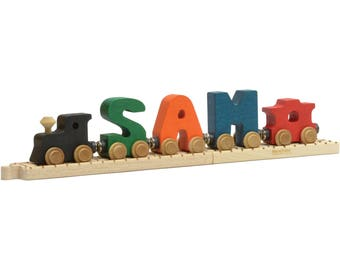 Personalized Bright NameTrain with Track (3-10 Letters)