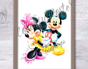 Mickey Mouse Wall Art minnie mouse art | etsy