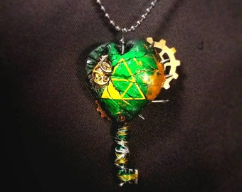 Legend of Zelda Triforce of courage Gear pendant and necklace