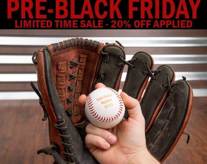 Personalized Baseball Gift, Groomsman Baseball Gift, Wedding Baseball Theme, Engraved Baseball, Custom Baseball Trophy, Unique Fathers Day