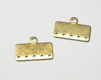 2 connectors 5 rows brass 20x10mm