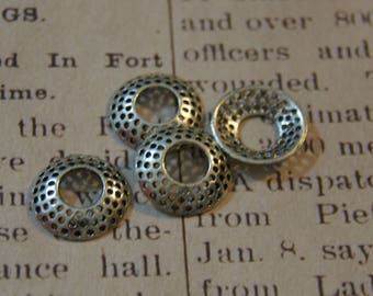 5 rings / connectors 17 silver-plated rondelles, 5x13mm