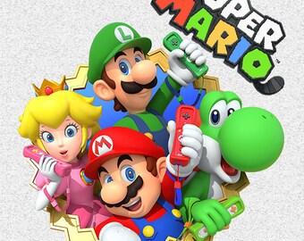 Super mario clipart,Super mario png,Super mario cut files,Super mario party,Super mariol,Super mario birthday,Super mario invitation,