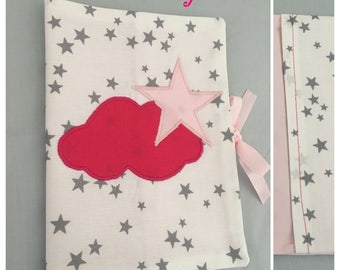 In stock: Star and cloud fushia and pink star powder health book