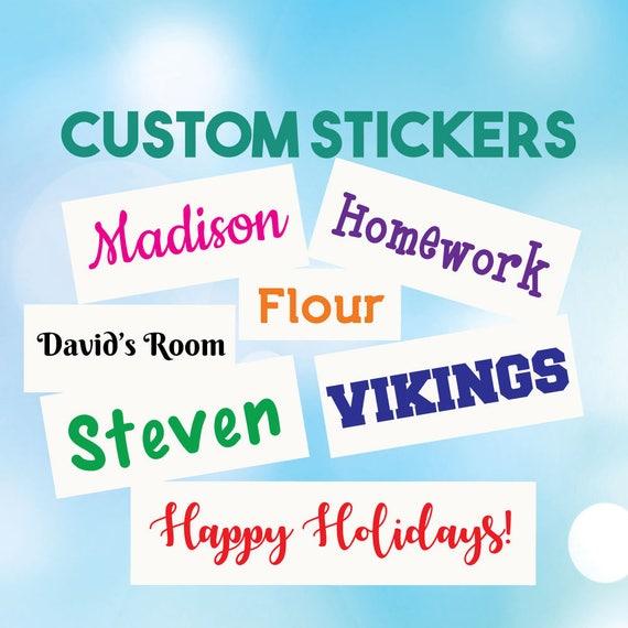 Custom Word Stickers