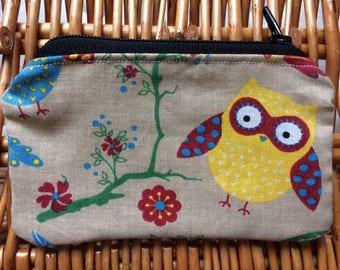 Owl Zip Coin Purse / Wallet