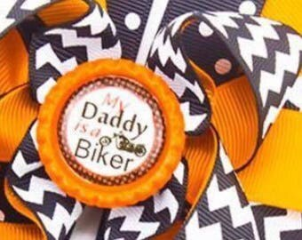 My daddy is a biker hairbow