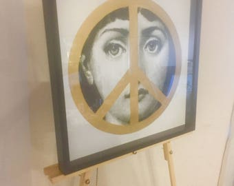 Fornasetti Gold Peace Print