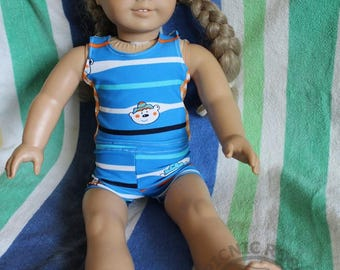 """18"""" Doll Swimsuit, Tankini, Doll clothes"""