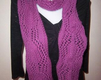 Openwork scarf 100% merino wool