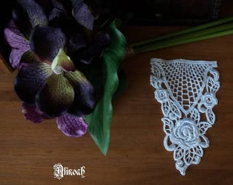 1 white guipure lace flower pattern