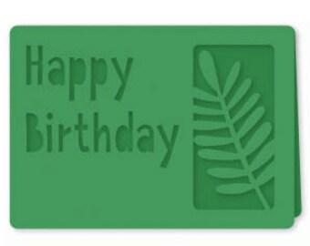 Happy Birthday Palm Card , Blank Inside , Blue , Yellow , Pink , Mint , PaperCut , Free Confetti , Men , Women , Kids , Teens