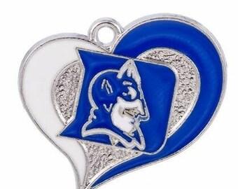 Duke Blue Devils Heart Charm