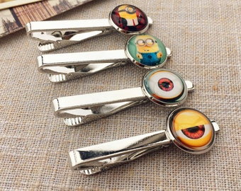 Yellow Minion Tie clips ,  Minions Tie clip, gift for boys, gift for men, gift for children