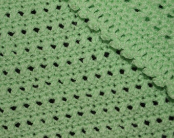 Apple Green Baby Blanket