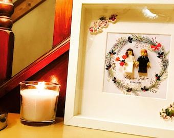 Christmas wedding gift -  Lego® frame.