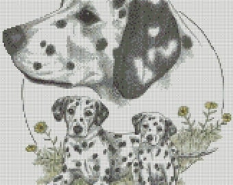 Cross Stitch Chart or Complete Kit The Dalmatian Dog