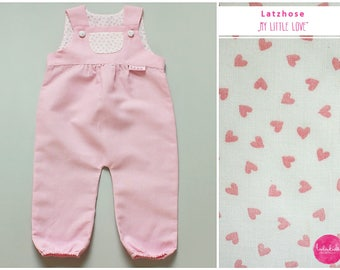 Pink baby girl linen pants summer player Playsuit jumpsuit pink heart baby pants toddler bib pink