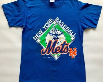 Vintage 1990 New York Mets Graphic T-Shirt Size Large