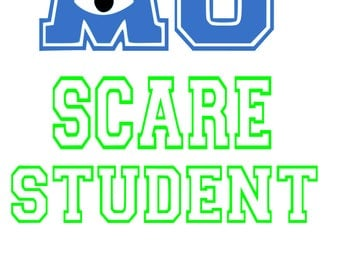 SVG, disney, monsters inc, scare student, monsters university,  silhouette,  printable, cut file, cricut, silhouette, instant download