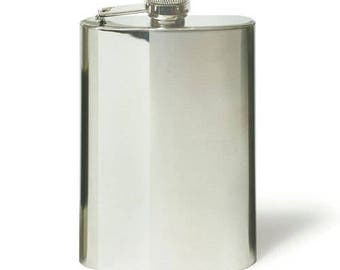 Personalised Hip Flask Two Tone Stainless Steel, Wedding Gift, Birthday, Anniversary, Christmas Gift