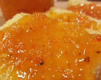 Habanero Jelly (3 jars) - made with roasted red, yellow and habanero peppers great on a cheese platter or spread on any sandwich