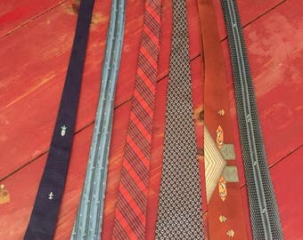 Excellent lot of six vintage ties 1950s and 1960s