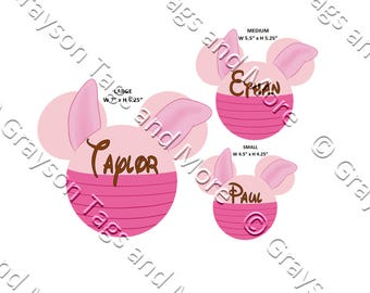Piglet Inspired Mouse Head Disney Cruise Door Magnet (3 sizes to choose from)