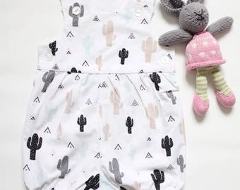 Gender Neutral Baby Romper - Desert Cactus