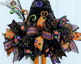 Halloween Door Decor - Halloween Witch Decor - Halloween Decor - Halloween Wreath - Halloween Witch Wreath - Halloween Door Wreath - Witch