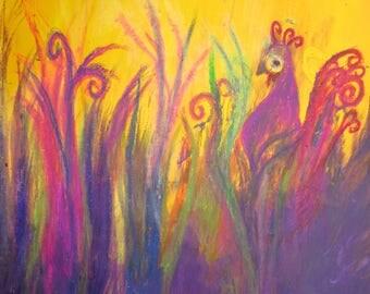 Pretty Peacock - medium art print (11.5 x 16.5 inch)