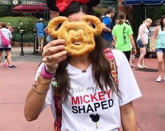 I like my food Mickey shaped shirt