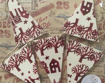 Emma Bridgewater Christmas Town Wooden Flag Garland/Bunting