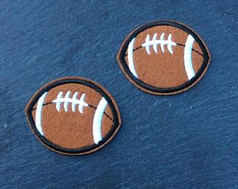 Football Feltie, Football Bow Center, Football Appliqué, Football Embellishment, Football Hair Bow