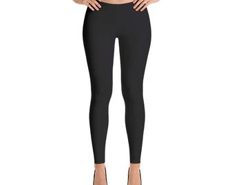 Black Leggings, Black Yoga Pants, Black Capri Leggings, Black Ankle Length Leggings, Women's Sizes, X-Small, Small, Medium, Large, XLarge