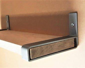 "10"" Light Belt Bracket. Hand Forged Metal. Industrial Shelf Bracket**"