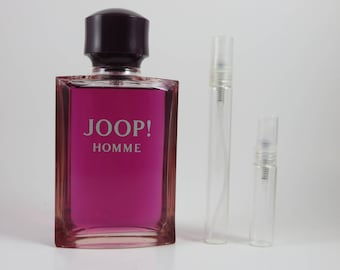 Joop! Homme Eau de Toilette Glass Atomizer Decant / Sample in 5ml/10ml