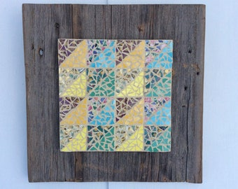 Mosaic Triangle Quilt Wall Hanging