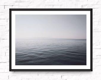 Ocean print, Printable photography, Ocean wall art, Ocean art, Calm sea, Horizontal wall print, Photography print, Ocean water print