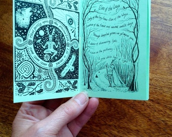 Handmade mini booklet 'Whispers of Green'